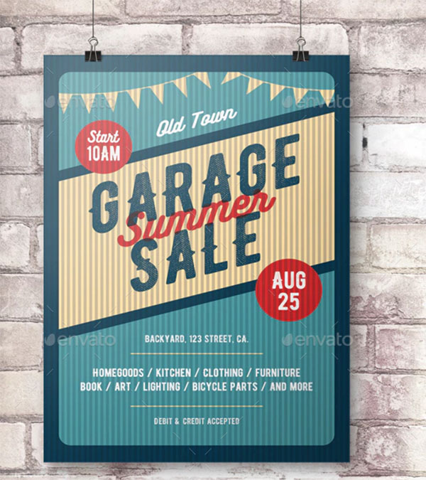 Garage Sale PSD Flyer and Poster Template