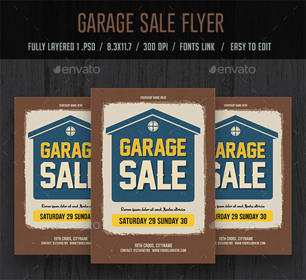 Garage Sale PSD Flyer and Poster