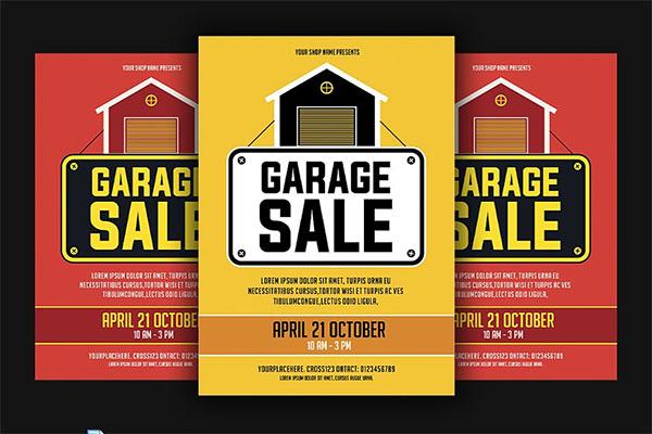Garage Sale PSD, JPG Flyer