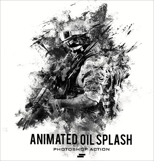 Gif Animated Oil Splash Photoshop Action