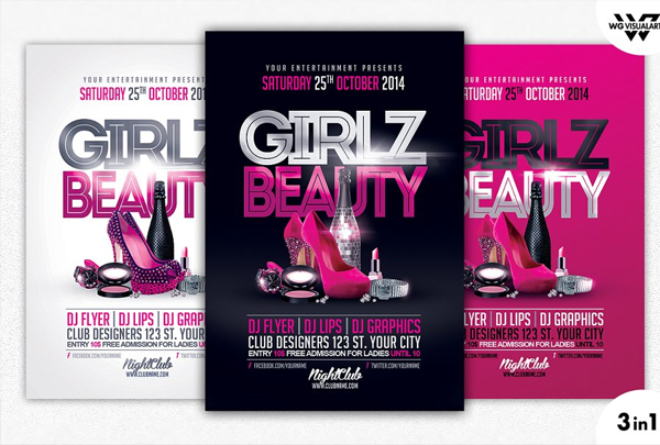 Girls Flyer Printable Template