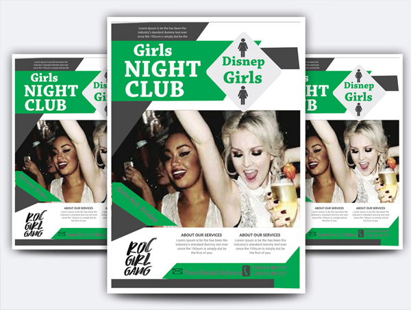 Girls Night Club Flyer
