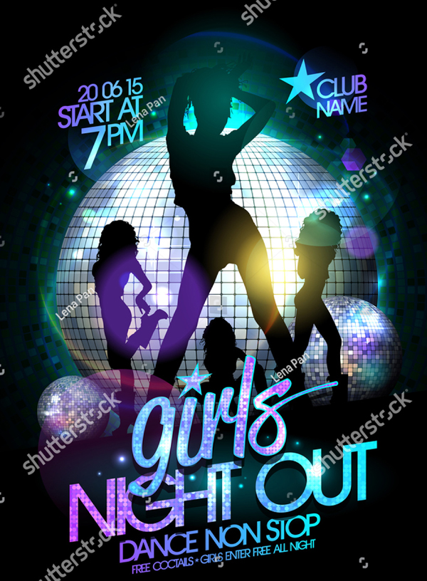 Girls Night out Party Poster and Flyer