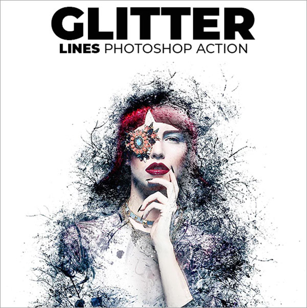 Glitter Lines Photoshop Action