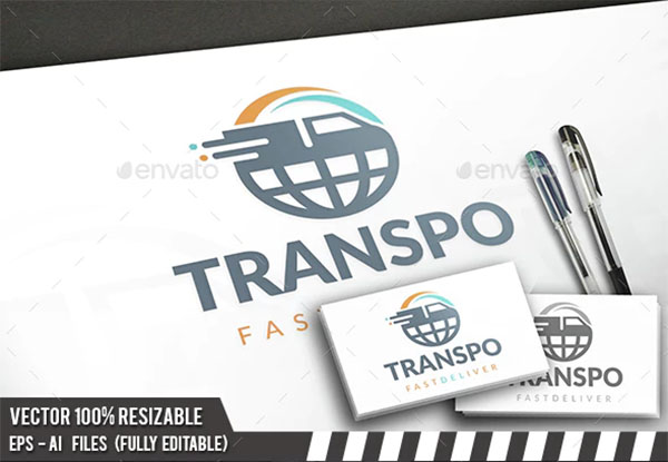 Global Transport Logo Design Template