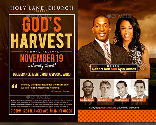 God's Harvest Revival Flyer Template