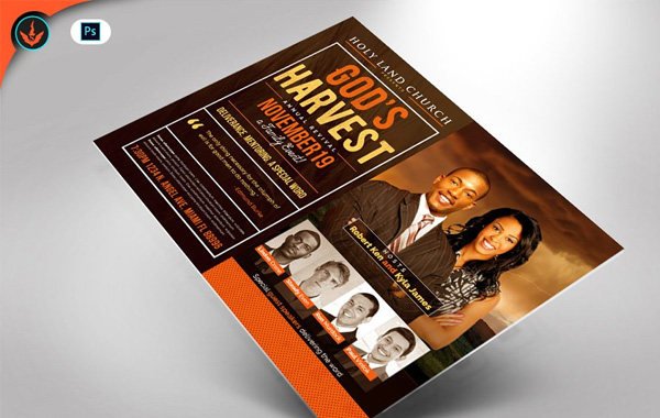 God's Harvest Revival Flyer