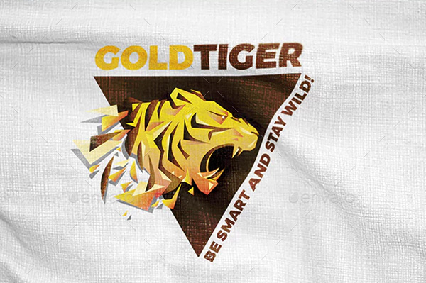 Gold Tiger Logo Designs