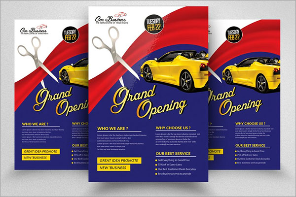 Grand Open latest Flyer Template
