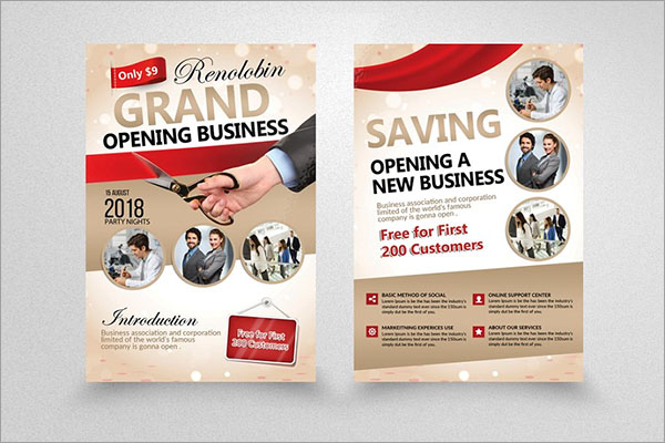 Grand Opening Business Flyer