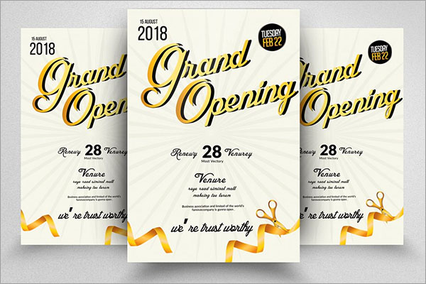 Grand Opening CMYK Flyer Template