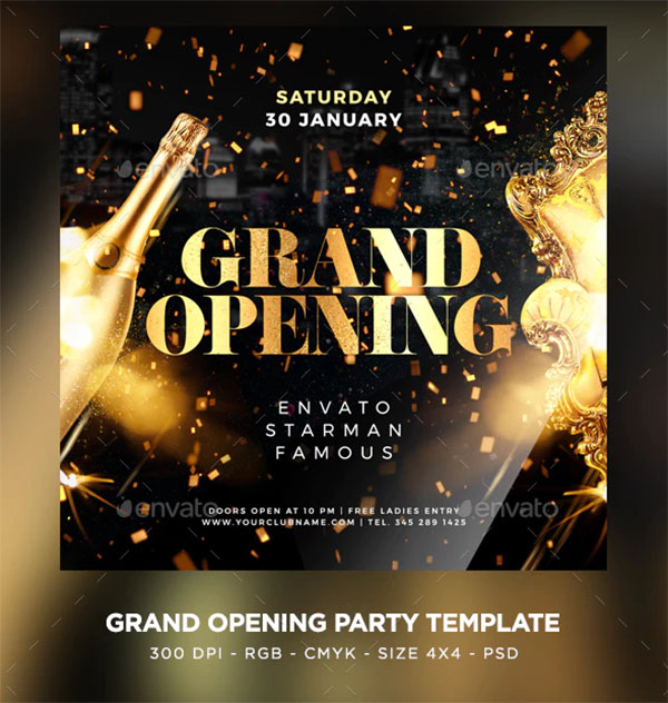 Grand Opening Design Flyer