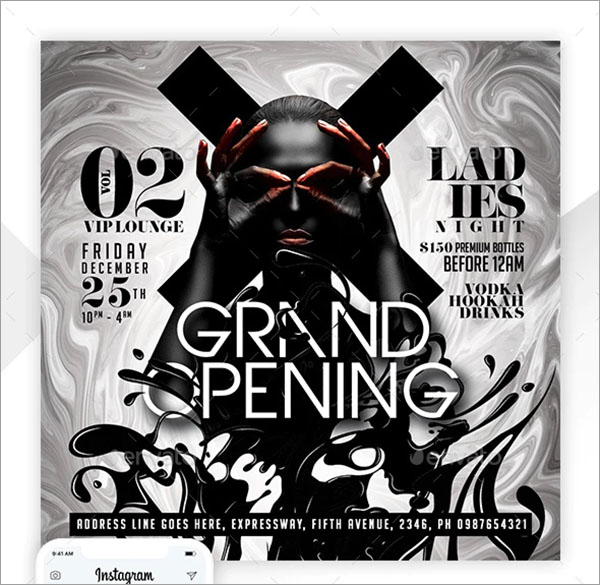 Grand Opening Entertainment Party Flyer