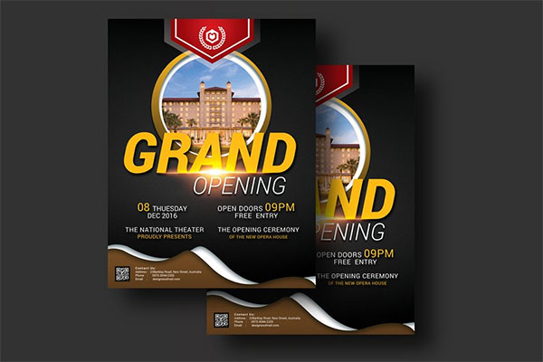 Grand Opening Event Flyer Design
