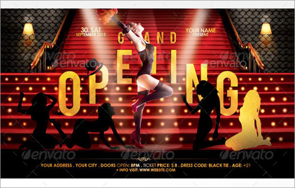 Grand Opening Flyer Templates PSD Design