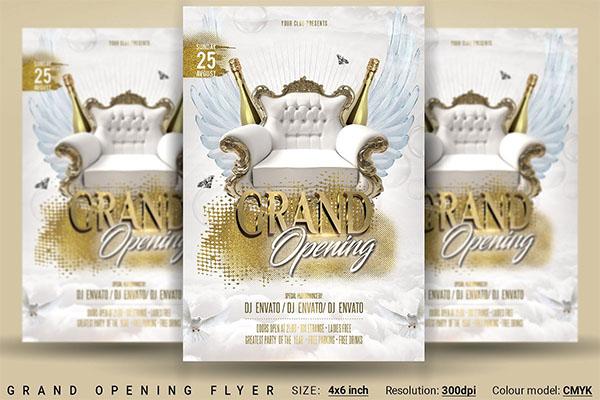 Grand Opening PSD Design Flyer