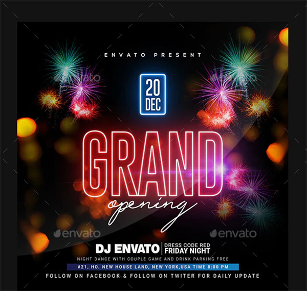 Grand Opening Party Flyer Design