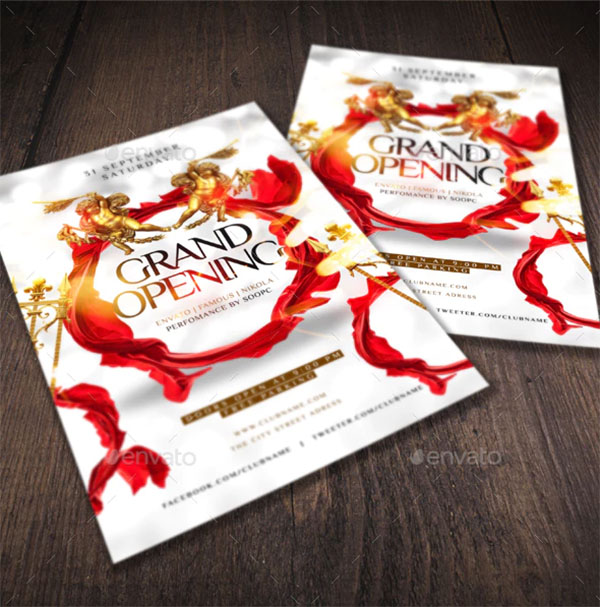 Grand Opening Photoshop Flyer