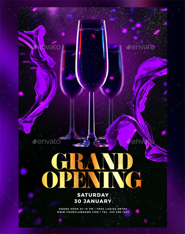Grand Party Opening Flyer