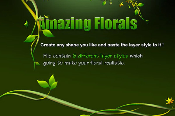 Green Floral Layer Styles