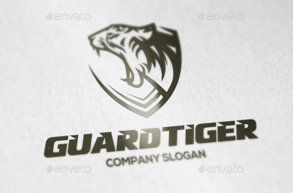 Guard Tiger Logo Template