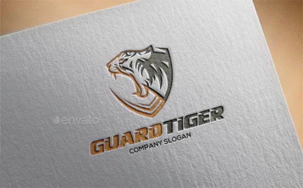 Guard Tiger Logo Template