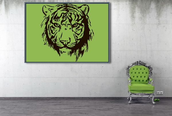 Hand Drawn Tiger Logo Design Template