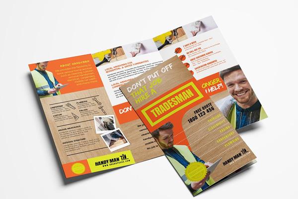 Handyman Painting Brochure Templates