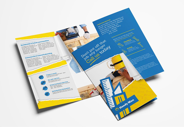Handyman Painting Trifold Brochure Template