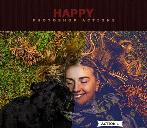 Happy Photoshop Actions