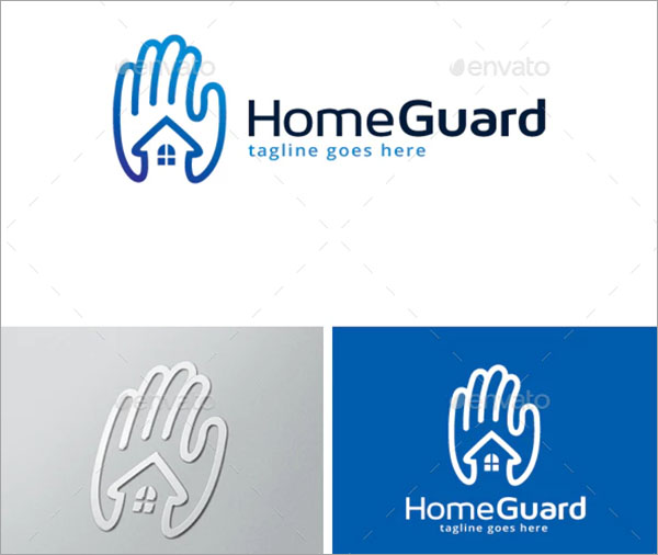 Home Guard Logo PSD Design