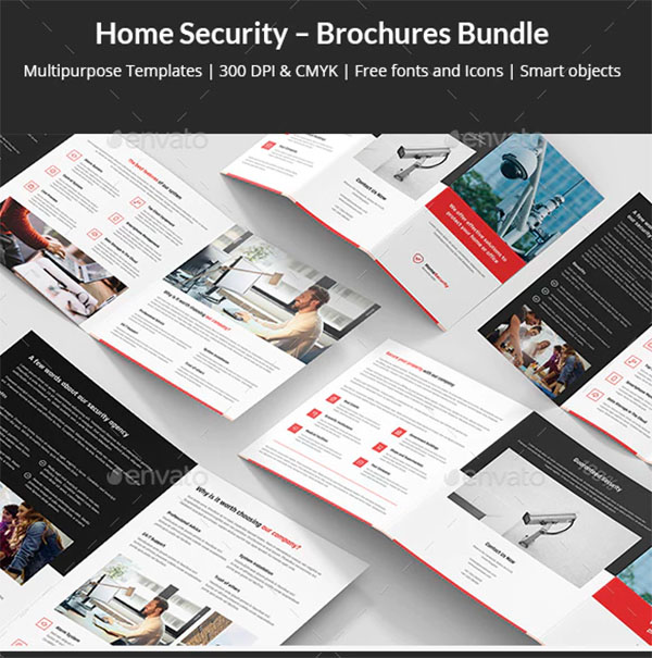 Home Security Brochures Bundle