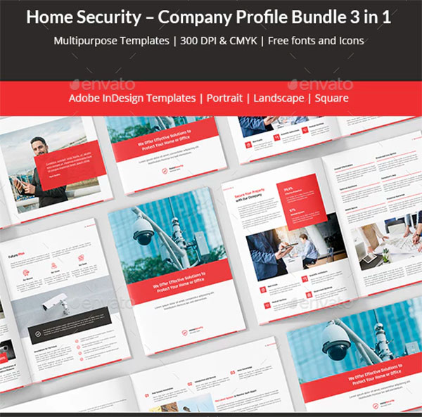 Home Security Company Profile Bundle