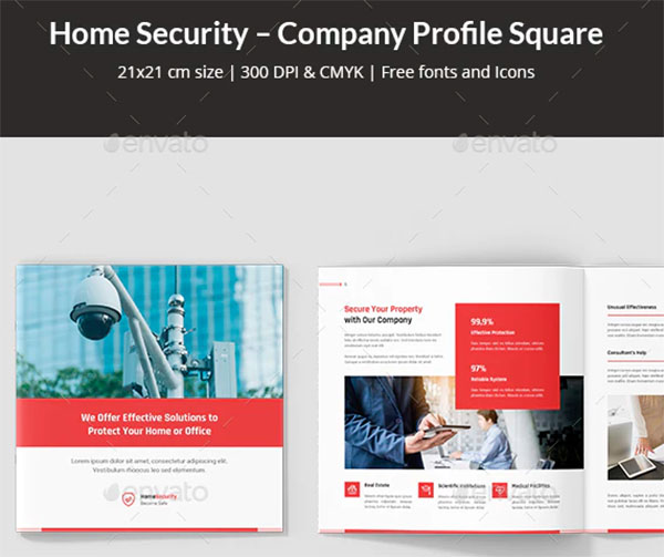 Home Security Company Profile Square