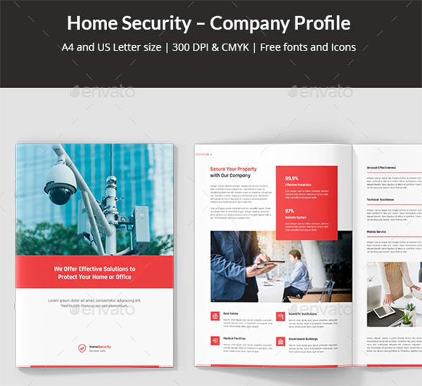 Home Security Company Profile Template