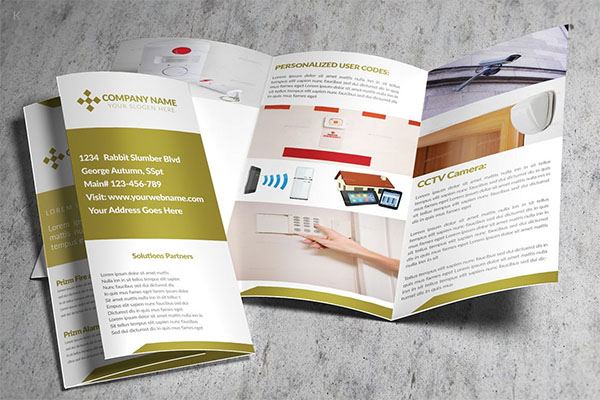 Home Security Trifold Brochure
