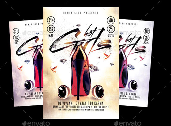Hot Girls Flyer Template