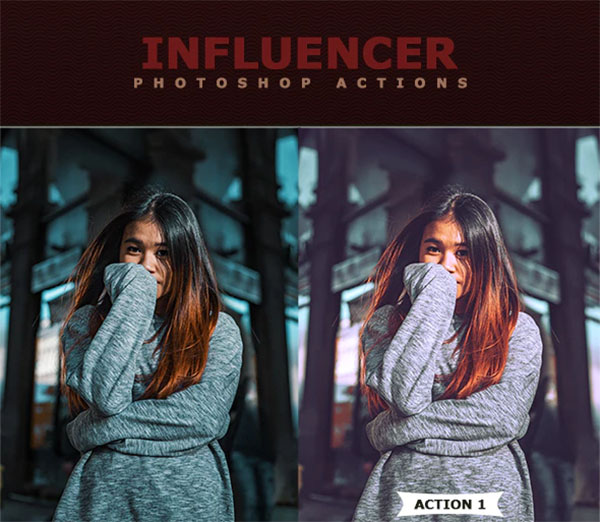 Influencer Photoshop Actionss