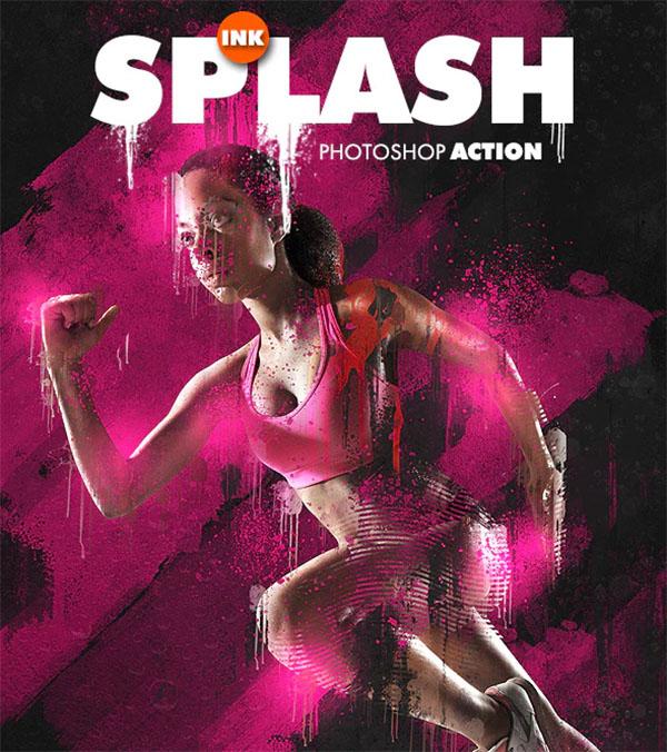 Ink Splash Photoshop Action