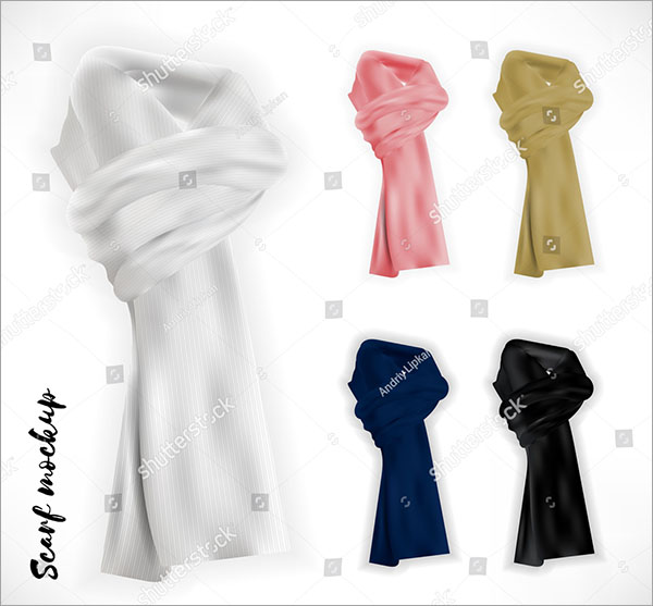 Knitted Scarf Vector Mockup