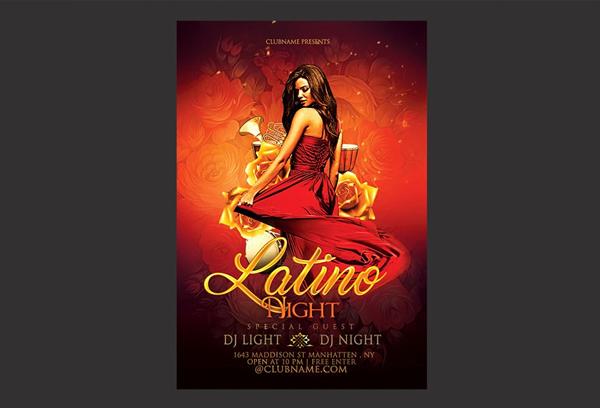 Latino Night Flyer Printable Template