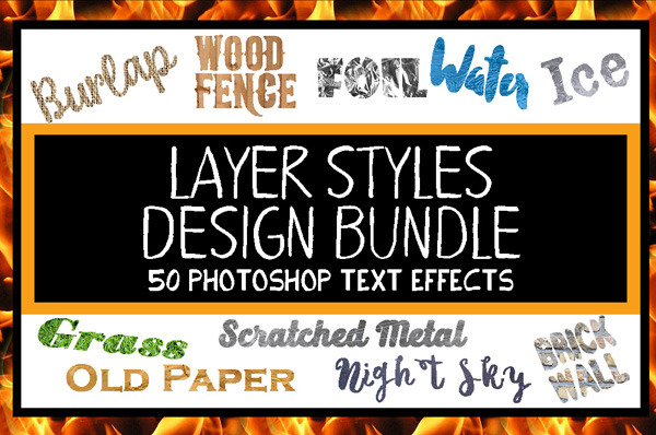Layer Styles Design Bundle for Photoshop