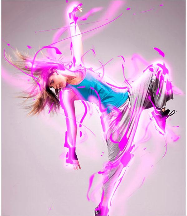 Light Splash Photoshop Action