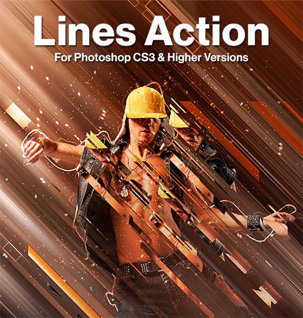 Lines Photoshop AYN, ABR Action