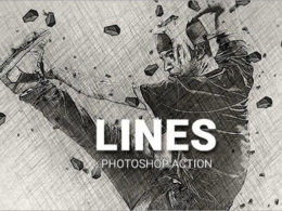 Lines Photoshop Actions