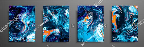 Liquid Marble Painting Brochure