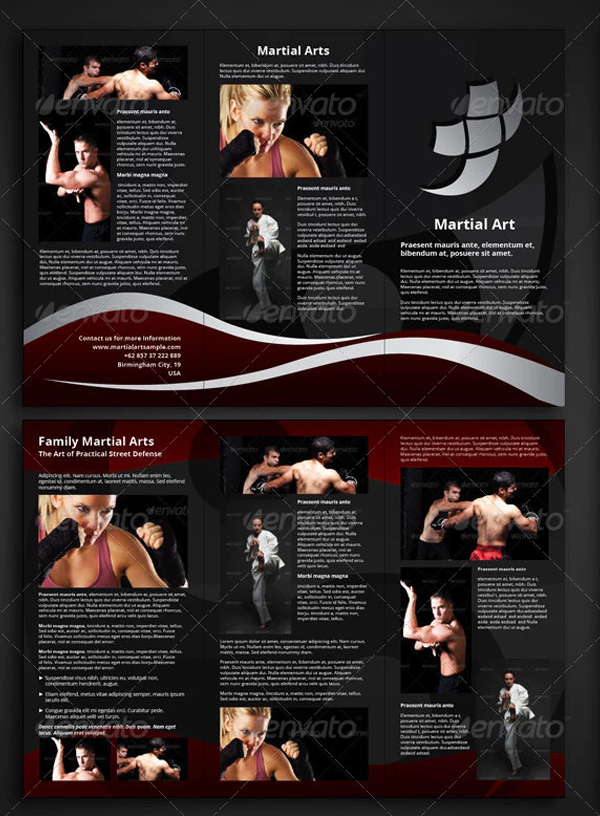 Martial Arts Trifold Brochure Template