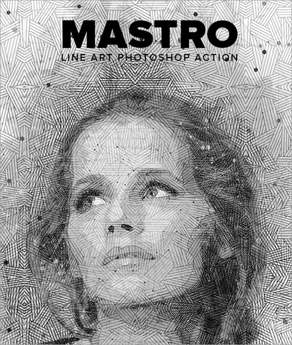 Mastro Line Art Photoshop Action