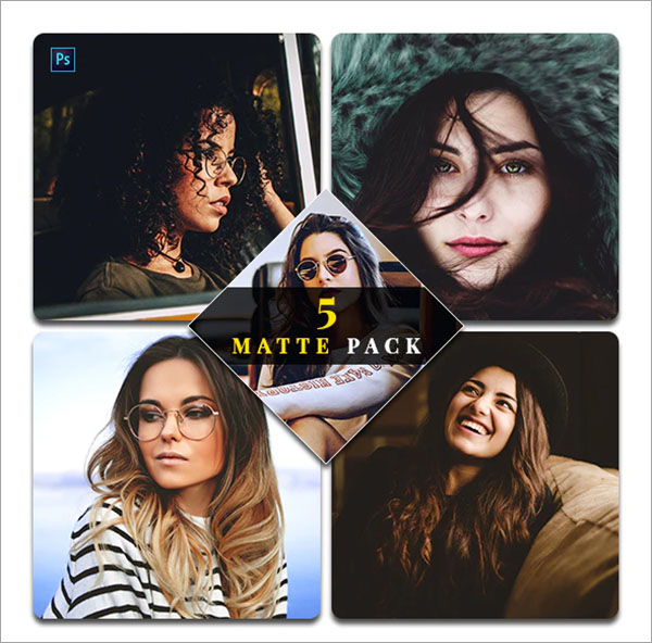 Matte Pack Photoshop Actions