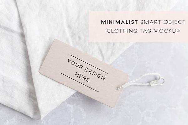 Minimalist Clothing Tag Mockup